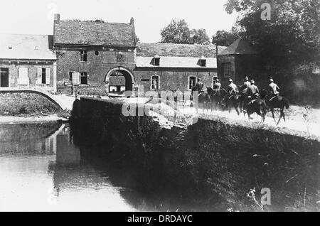 German cavalry in France WWI - Stock Photo