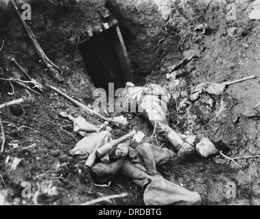 Dead German soldier WWI - Stock Photo