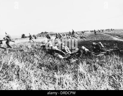 Dismounted German cavalry WWI - Stock Photo