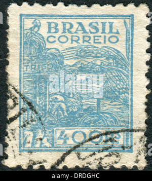 BRAZIL - CIRCA 1941: Postage stamp printed in Brazil, dedicated to agriculture, circa 1941 - Stock Photo