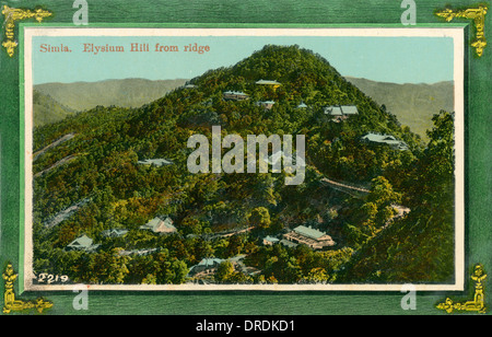 Shimla, India - Elysium Hill viewed from the ridge - Stock Photo