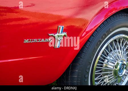 Old Mustang logo - Stock Photo