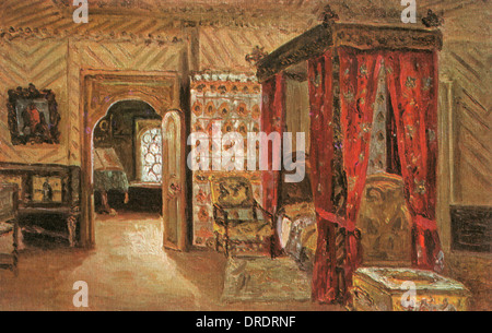 Patriarch's Bedchamber, Terem Palace, Moscow, Russia - Stock Photo
