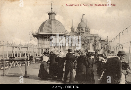 Eastbourne Pier, East Sussex - Bandstand and Pavilion - Stock Photo