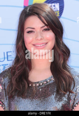 Miranda Cosgrove   at the 2012 Teen Choice Awards held at the Gibson Amphitheatre - Arrivals Universal City, California - Stock Photo