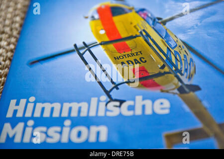Nuremberg, Germany. 24th Jan, 2014. The German automobile club ADAC 'Motorwelt' from December 2013 shows the rescue - Stock Photo