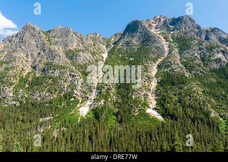 Cascade Mountain scenery at Washington pass, North Cascades Highway, Route 20, Washingon State, USA - Stock Photo