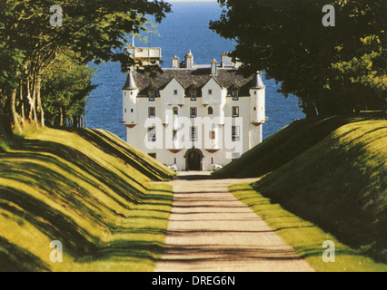Dunbeath Castle, Caithness, Scotland - Stock Photo