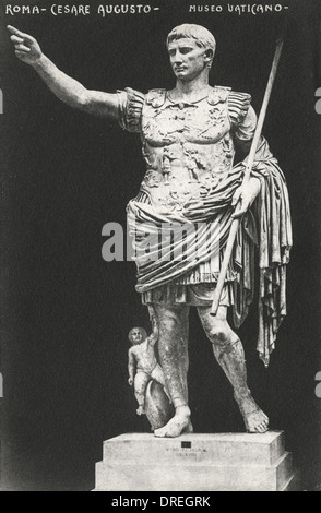 Statue of Augustus - The Vatican, Italy - Stock Photo