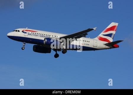 BRITISH AIRWAYS AIRBUS A319 - Stock Photo