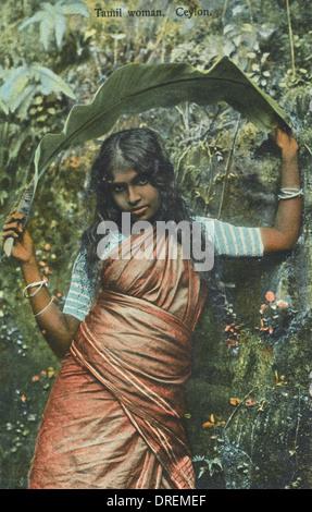 A Tamil Woman from Sri Lanka - Stock Photo