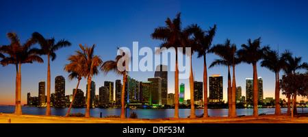 Miami Financial Skyline, Florida, USA - Stock Photo