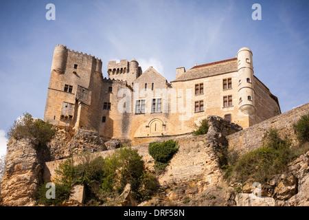 Beynac-et-Cazenac, Dordogne, France, Europe. Beautiful traditional stone built Chateau de Beynac. - Stock Photo