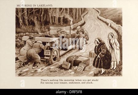 Motoring in Lakeland - Stock Photo