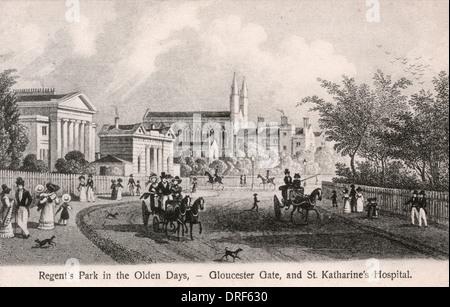 Regent's Park, London c. 1829 - Stock Photo