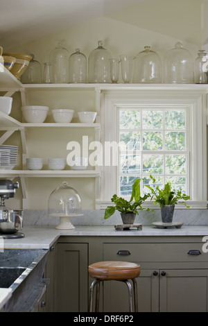 Maryland USA interior traditionally built furnished farmhouse - Stock Photo