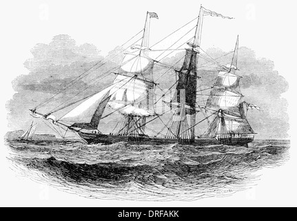 Star of the East, belonging to the Golden Line of Australia Clippers circa 1854 - Stock Photo