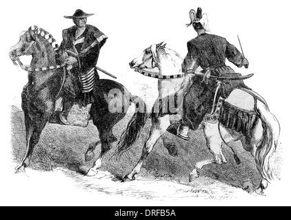 Japanese Cavalry circa 1854 - Stock Photo