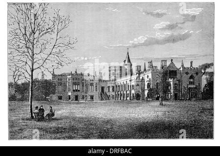 Strawberry Hill house  Twickenham, London 1882 - Stock Photo