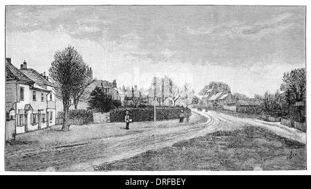 Hadley Green site of the battle of Barnet Monken London Borough of Barnet. Circa 1880 - Stock Photo