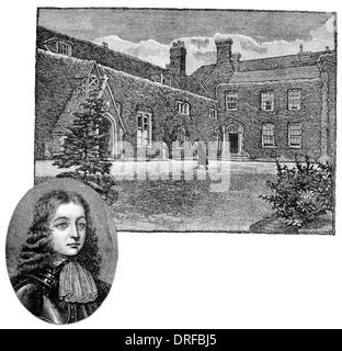 Chigwell Grammar School. Epping Forest Essex London Circa 1880 William Penn - Stock Photo