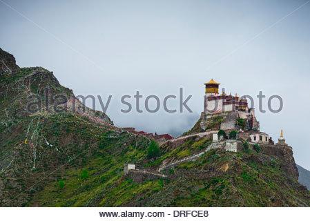 Yambulakhang Palace, Tibet (Xizang), China. - Stock Photo
