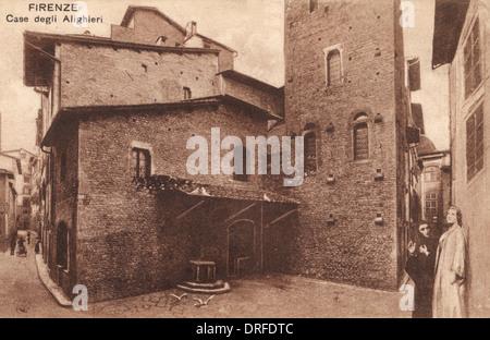 House of Dante Alighieri in Florence - Stock Photo