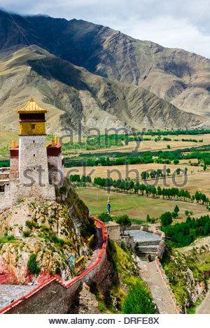 Yambulakhang Palace, Tibet(Xizang), China. - Stock Photo