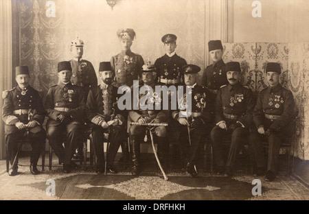 General von Mackensen and Turkish Officers - Stock Photo