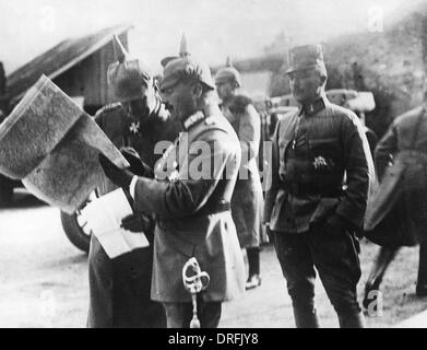 German Generals on the Romanian Front - Stock Photo