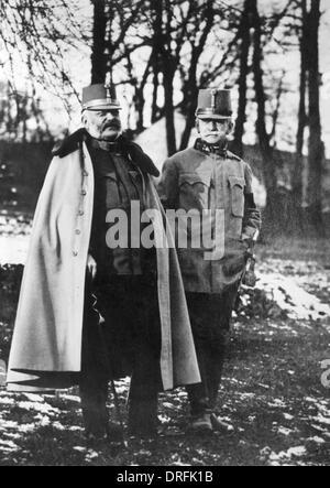 Archduke Friedrich of Austria and Conrad von Hotzendorf - Stock Photo
