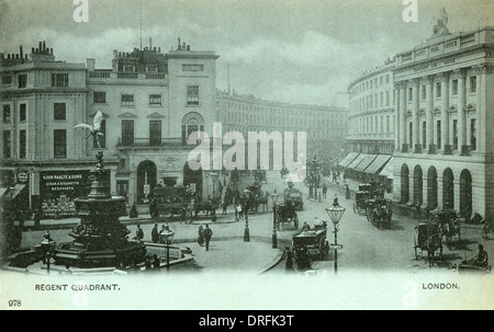 Piccadilly Circus and Regent Street, London 1900s - Stock Photo