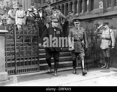 General Joffre and Sir William Robertson in Cologne - Stock Photo