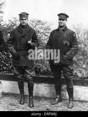 Brigadier General Macarthur and Major Wolf in Germany - Stock Photo