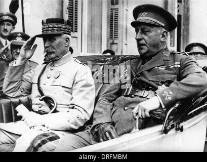 General Petain, French army officer, WW1 - Stock Photo
