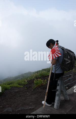 Break Time on Mt. Fuji - Stock Photo