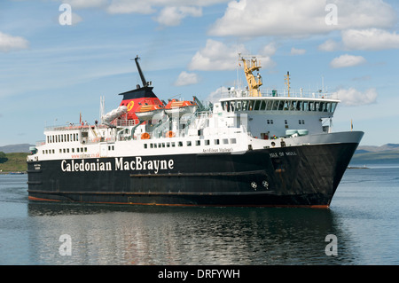 Caledonian MacBrayne's ferry, the 'Isle of Mull', in Oban Bay, Oban, Highland region, Scotland, UK - Stock Photo