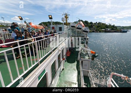 On board the Caledonian MacBrayne's ferry, the 'Lord of the Isles', in Oban Bay, Highland region, Scotland, UK - Stock Photo
