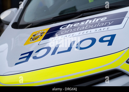 Cheshire Police vehicle livery as seen in Nantwich, Uk, Europe, EU - Stock Photo
