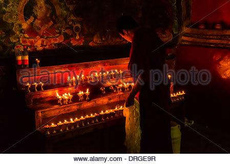 Palcho Monastery (a.k.a. Pelkor Chode Monastery), Gyangze, Tibet (Xizang), China. - Stock Photo
