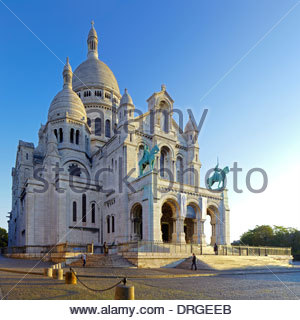 the basilica du sacre coeur, paris, france, europe - Stock Photo