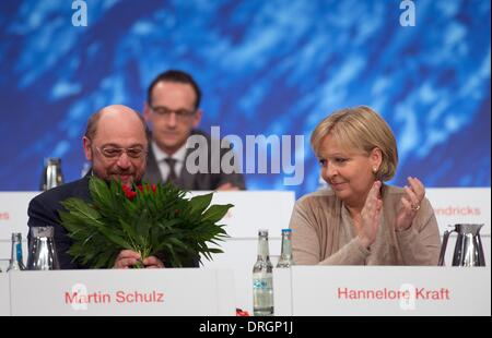 Berlin, Germany. 26th Jan, 2014. The newly elected SPD frontrunner and president of the European Parliament, Martin - Stock Photo