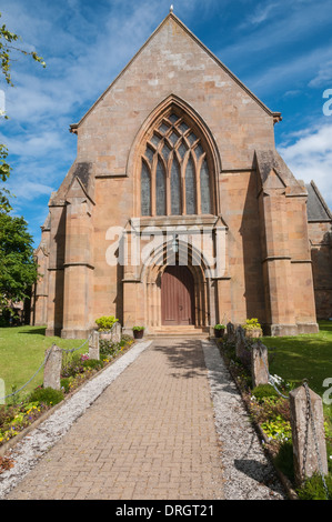 13th Century Dornoch Cathedral  Dornoch Sutherland Highland  Scotland - Stock Photo