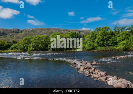 River Ewer Poolewe Ross & Cromarty Highland Scotland - Stock Photo
