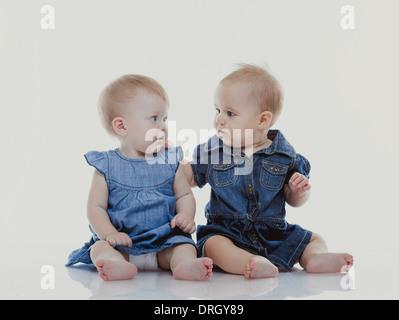 zwei Kleinkinder - two babies - Stock Photo
