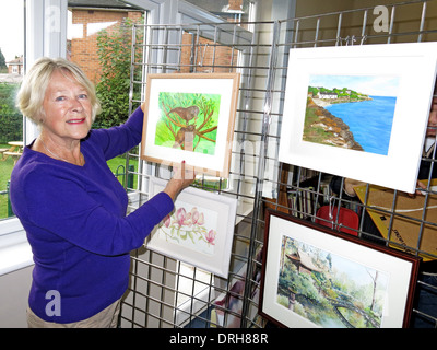 WAG Warrington Art Group exhibition at Grappenhall Community Library 2013 - Stock Photo