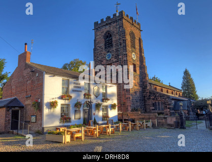 Parr Arms Pub Grappenhall Village Warrington Cheshire North West England UK - Stock Photo