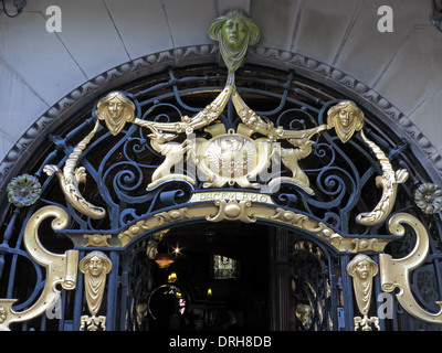 Golden entrance art at the Philharmonic Dining Rooms Hardman Hope St  Liverpool  England United. Entrance to the Philharmonic Dining Rooms tavern in Gold Liverpool