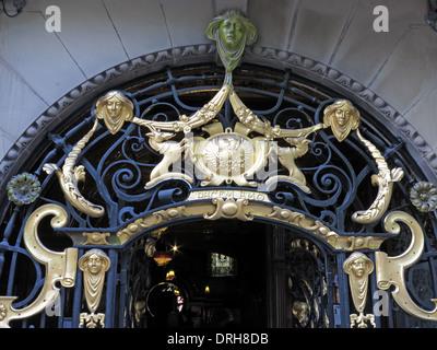 Golden entrance art at the Philharmonic Dining Rooms Hardman/Hope St Liverpool, England United Kingdom - Stock Photo