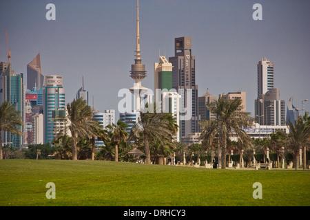 Kuwait skyscrapers, Middle east, Kuwait City - Stock Photo